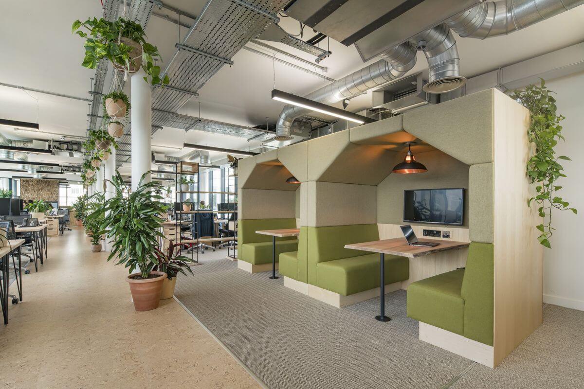 Không gian xanh tại văn phòng Jacada, London