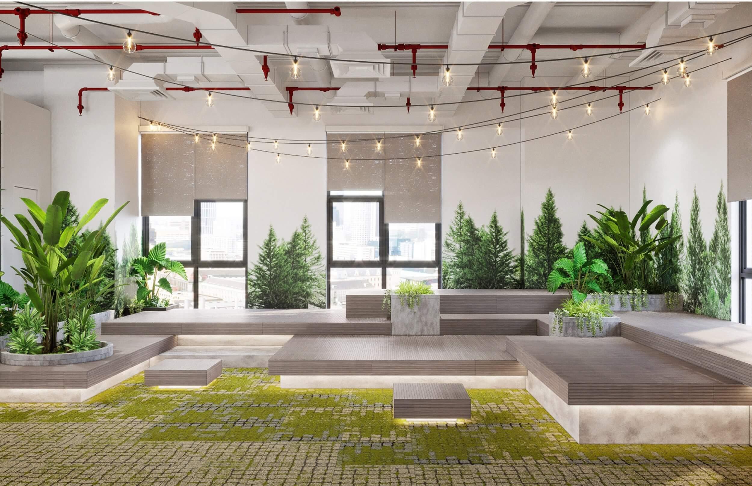 """""""Hệ sinh thái xanh"""" trong văn phòng làm việc"""