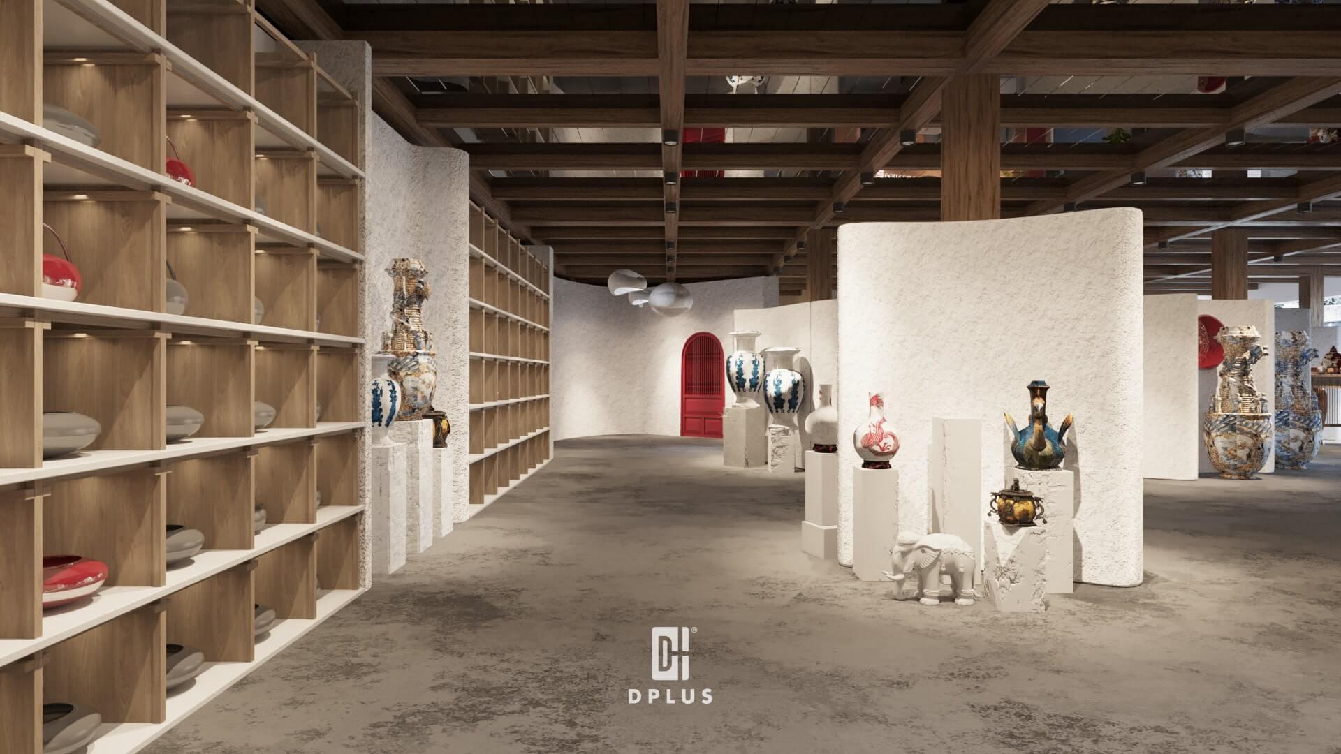 Ứng dụng phong cách đương đại trong thiết kế không gian trưng bày
