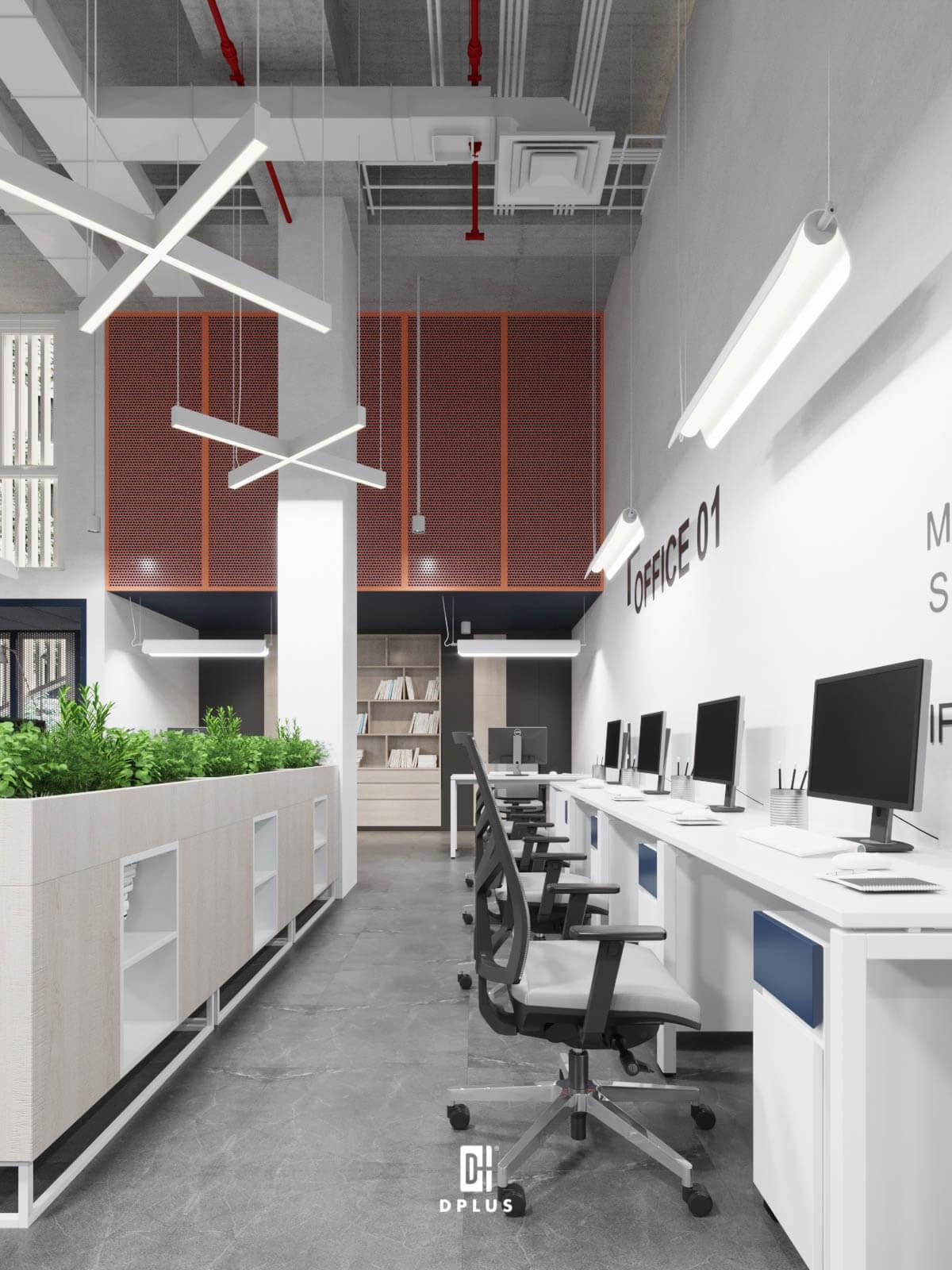 Ứng dụng phong cách industrial trong thiết kế văn phòng
