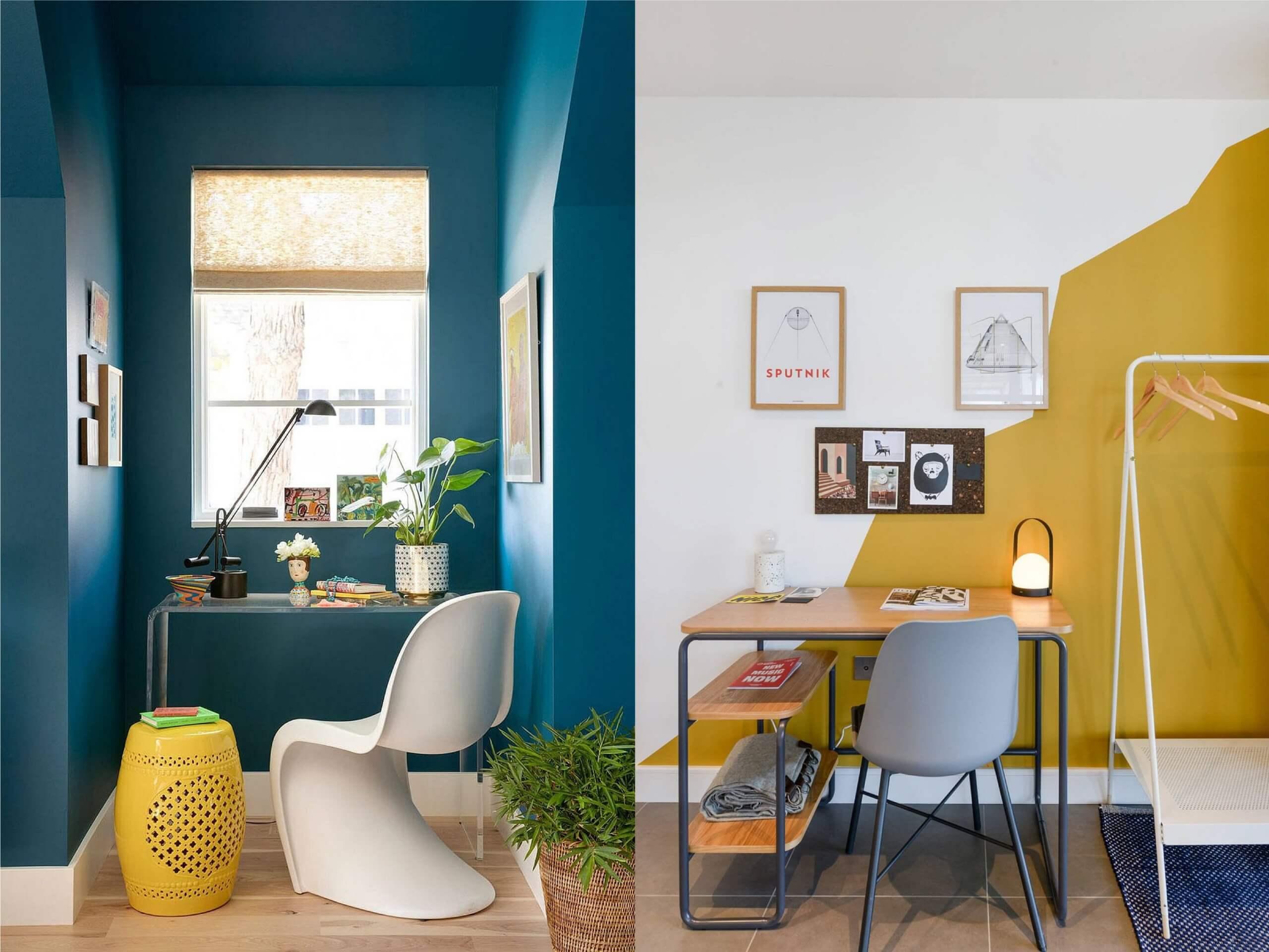 sử dụng đa dạng màu sắc đối lập trong phong thiết kế nội thất